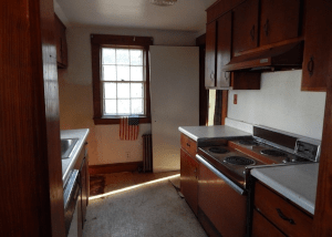 Kitchen in MA before we repair it