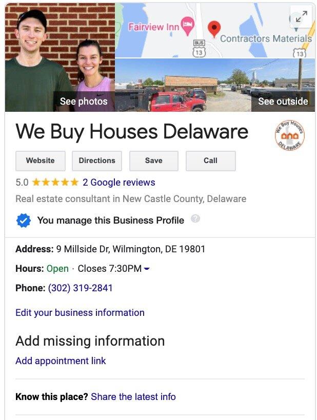 house buyers in Delaware
