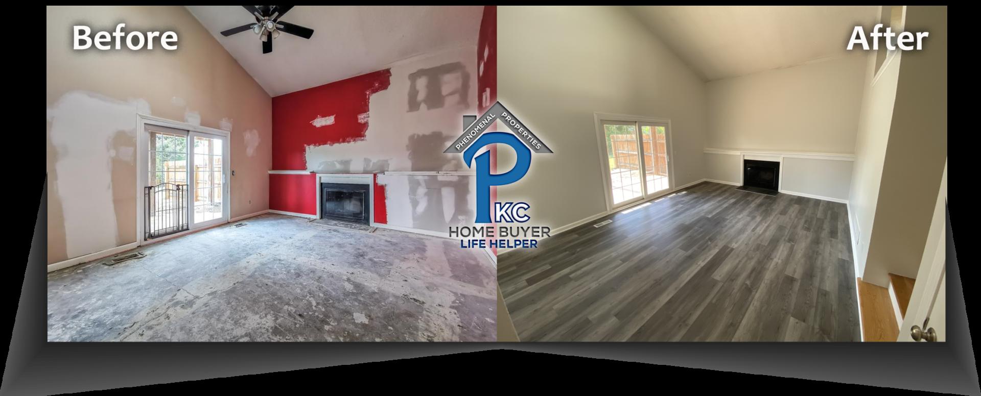house bought for cash and flipped in Lenexa, KS