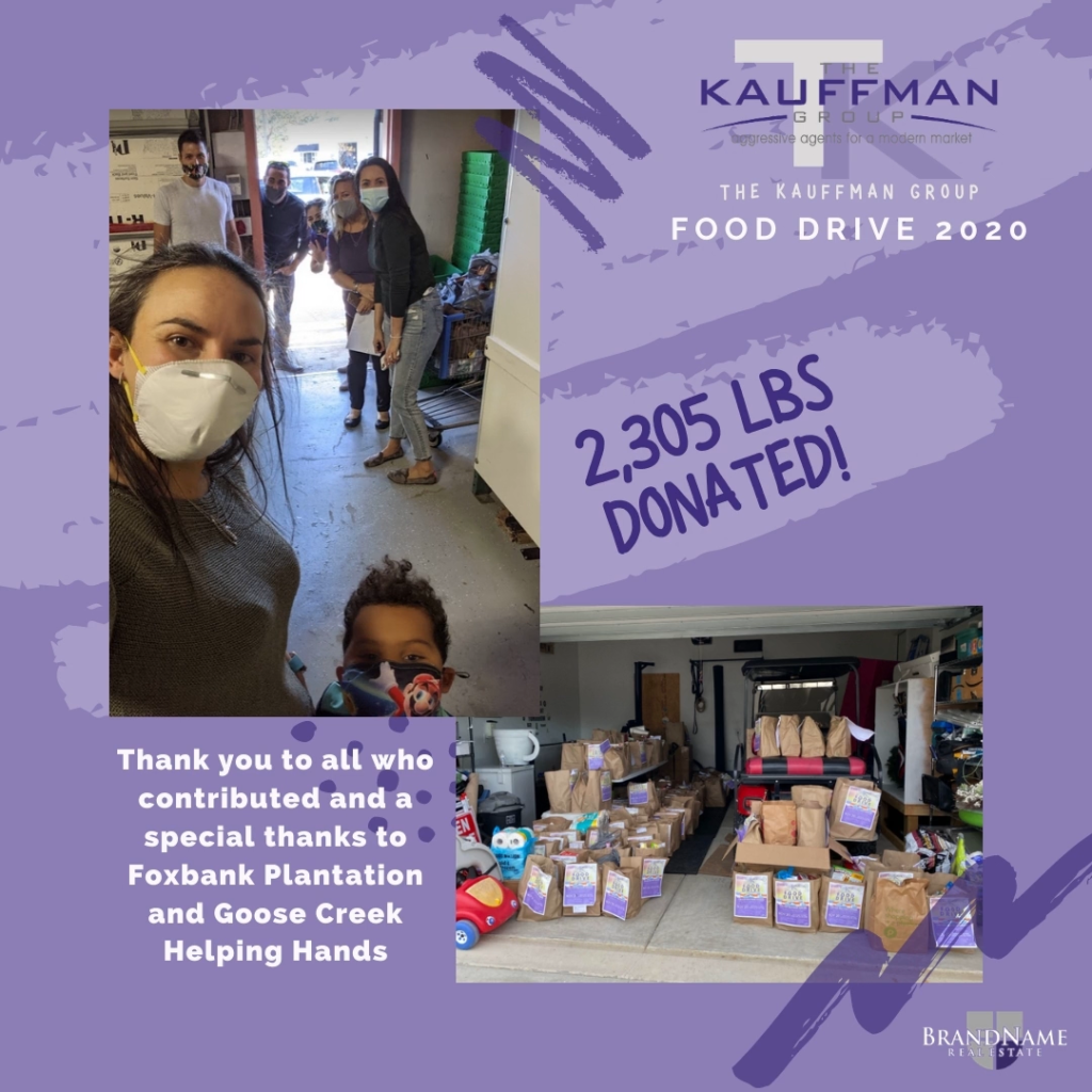 The Kauffman Group  food drive Summerville