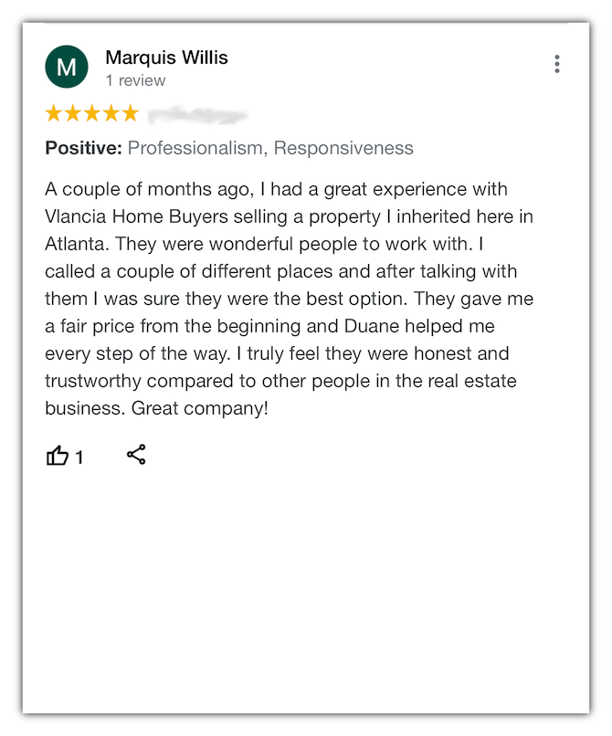Marquis Vlancia Home Buyers Review