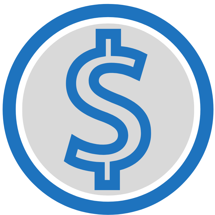 Dollar Sign Blue