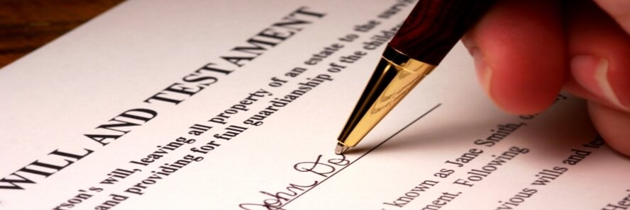 Testate means the person died with a valid will