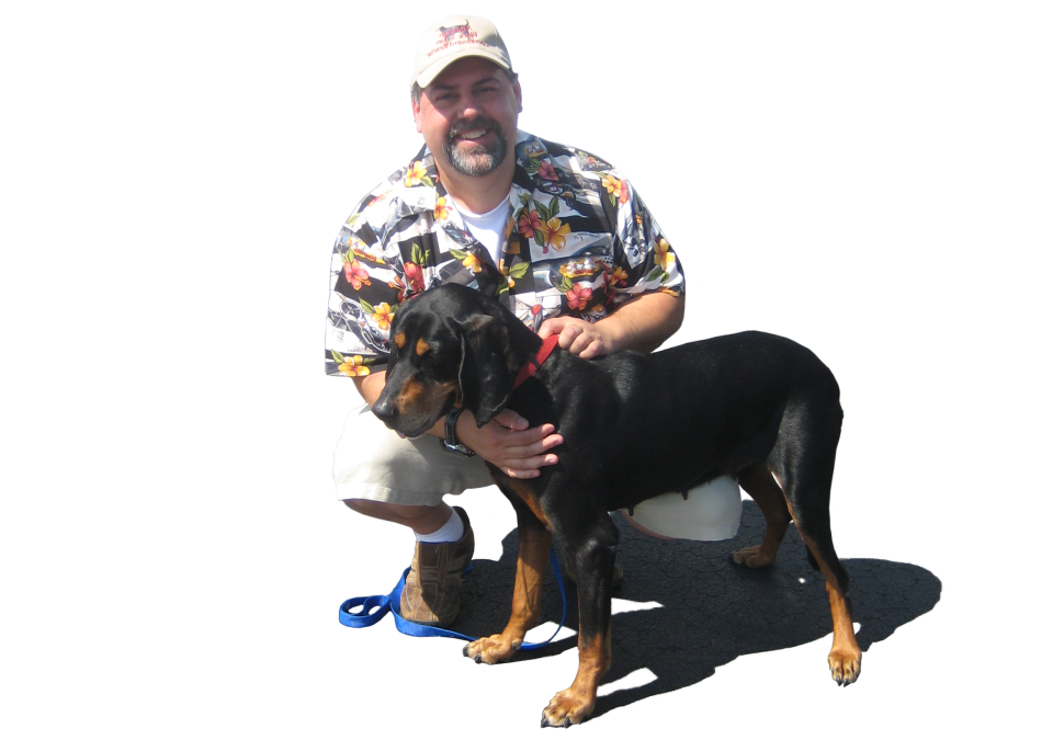 Bob and fostered dog
