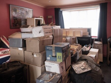 Stuff boxed up during divorce