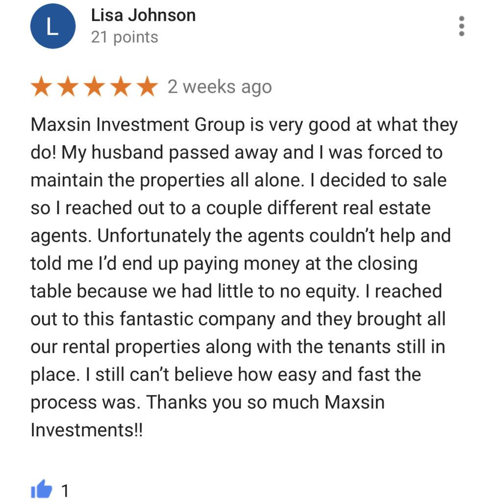 We Buy Houses Google Reviews #4