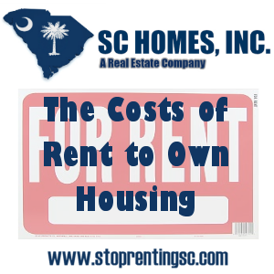 The cost of rent to own housing