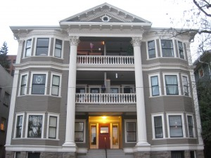 gray apartments