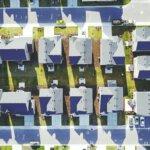 Aerial shot of a neighborhood