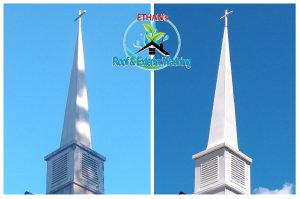 Church Steeple Washing