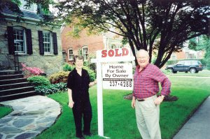 happy couple sold home to Christopher Ellyn Homes