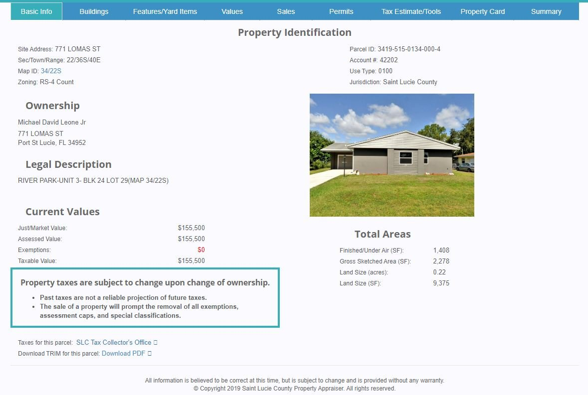 port st lucie property report card
