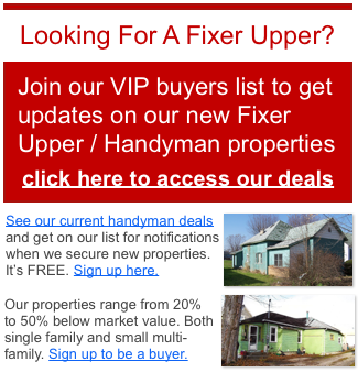 Metro Detroit Michigan fixer upper properties for sale