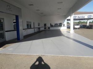 Stockton Hyundai Parking Area Before Stiping