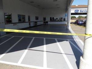 Stockton Hyundai Parking Lot after Striping