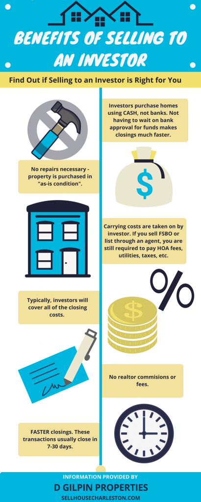 For sale by owner vs selling to an Investor or cash buyer infographic