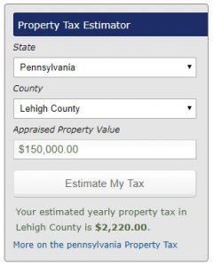 lehigh county property taxes