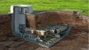 Cross-section of an underground house