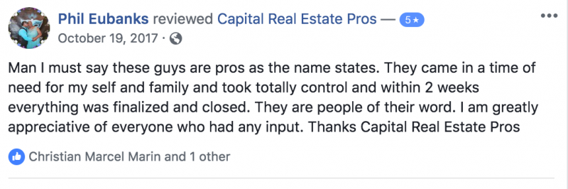 orlando house seller and client of capital real estate pros