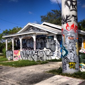 Abandoned house in Wynwood