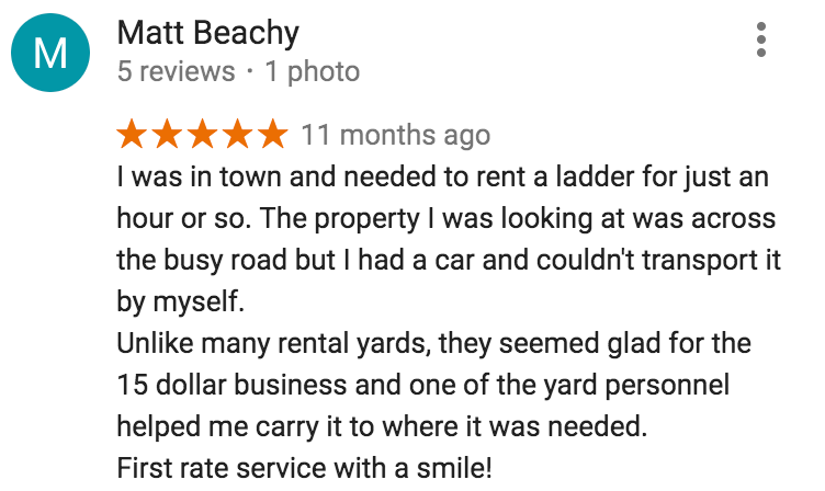 rental equipment klamath falls reviews