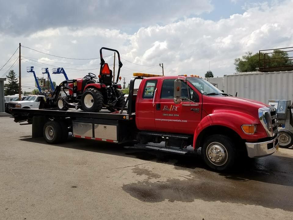 equipment rental delivery medford and klamath falls oregon