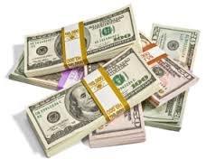 piles of cash
