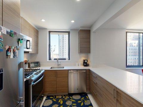 235 W 48th Street Unit 22L Kitchen of this Times Square adjacent rental apartment.