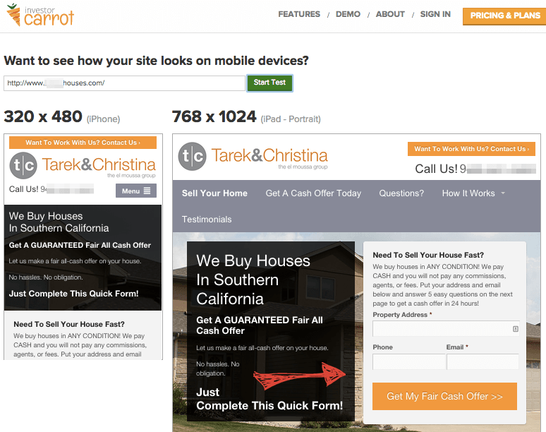 mobile real estate investing websites for google
