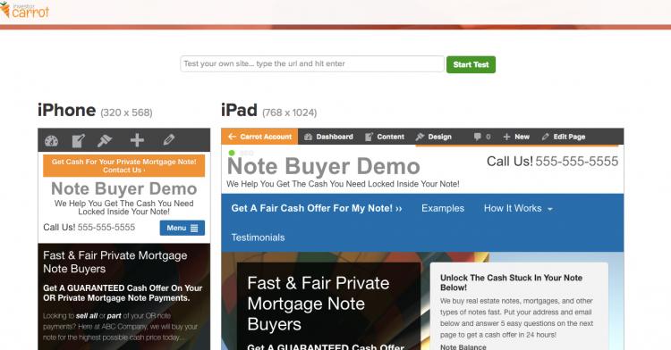 real estate investor mobile responsive websites