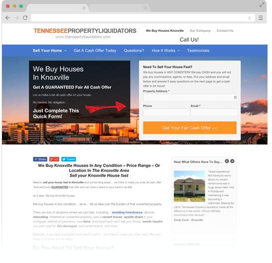 TN Property Liquidators Web Design