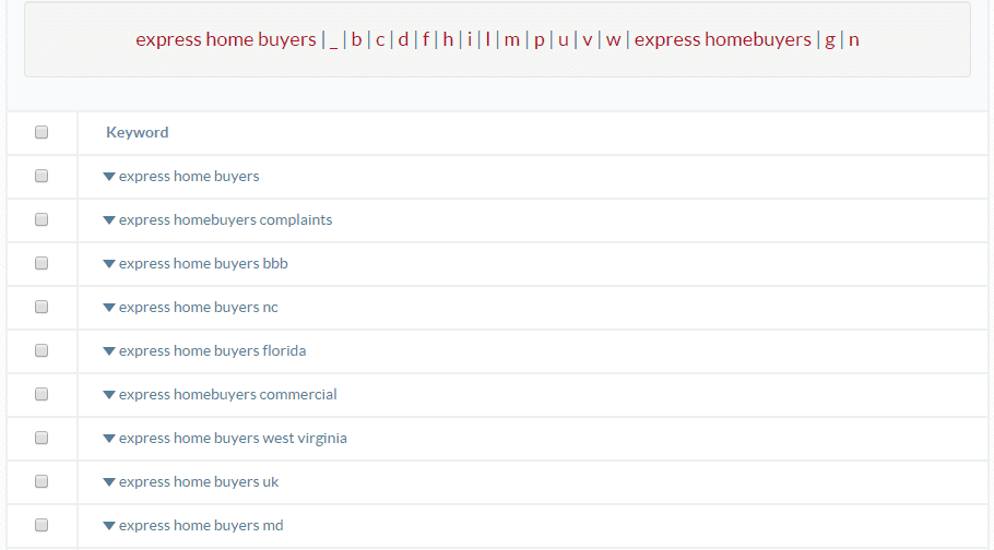 ubersuggest keyword platform
