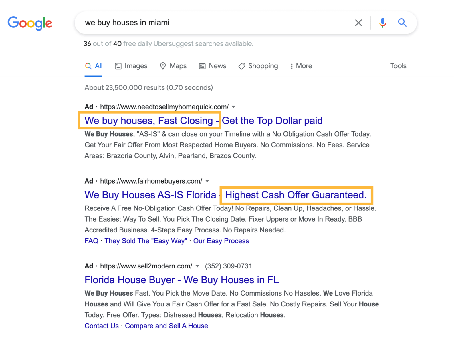 use power words in google ads