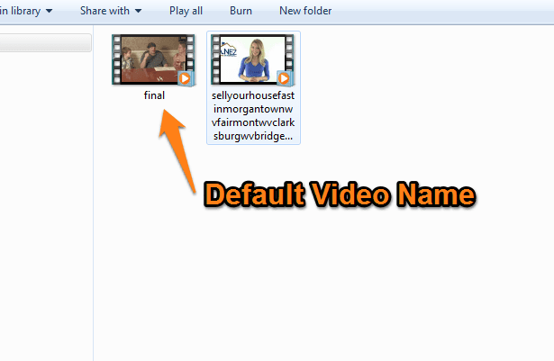 changing your YouTube video file name
