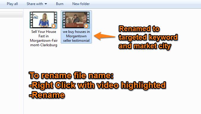 YouTube video marketing filename